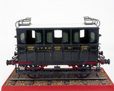 Second clas railway carriage, 1839. Model.