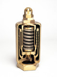 Muffled 'pop' safety valve, c 1875. Section