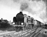 Southern Railway 'Lord Nelson' pasing Shorncliffe, 1936.