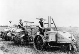 The Ivel Agricultural Tractor in use, c 1900s.
