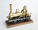 Pasanger locomotive, 1837. Model (scale 1: