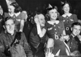 Soldiers at a London show, 1939.