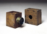 Two mousetrap cameras, c 1835.