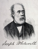 Sir Joseph Whitworth, English mechanical engineer, c 1860s.