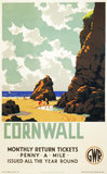 'Cornwall', GWR poster, c 1937. Colour post