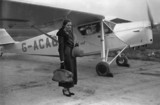 Amy Johnson, English aviator, 8 November 1932.
