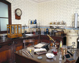An 1890s laboratory in the Chemistry Gallery, Science Museum, 1992.