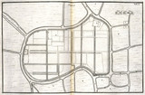 Map of Ayutthaya, capital of Siam, (Thailand), c 1690.