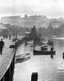 Fishing harbour in Whitby, North Yorkshire, c 1910-1920.