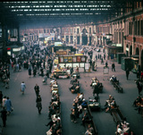 The concourse, Waterloo Station, London, 1963.
