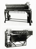 Hollerith sorting machine and tabulating machine, 1924.