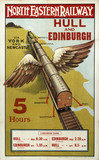 'Hull and Edinburgh', NER poster, 1907.