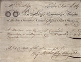 Receipted bill for a microscope, 1767.