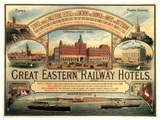 'Great Eastern Railway Hotels', GER poster, c 1884-1890.
