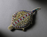 Turtle amulet, Plains Indians, USA and Canada, 1880-1920.