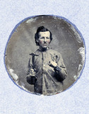 Miniature portrait of a man, c 1875. This