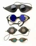 Goggles and spectacles, English, 1851-1950.