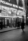 The Piccadilly News Theatre by night, 1934.