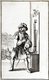 Siphon barometer in use, 1688.