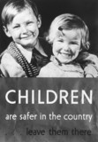 Poster advocating the evacuation of children, 1939.