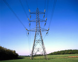 Electricity pylon in rural setting, 1997.