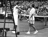 Helen Jacobs (right) and Mrs Sperling, Wimbledon 1935.