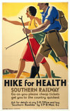 'Hike for Health', Southern Railways poster, c 1930s.