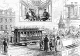 Electric tramcar, 1883.
