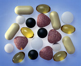 Selection of vitamins, minerals and other food supplements, 1998.
