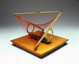 Conoid in contact with a hyperbolic paraboloid, string surface model, 1872.