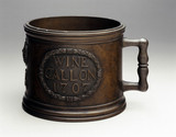 Bronze standard wine gallon measure, 1707.