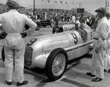 Mercedez-Benz W25 on the starting grid at Nurburgring racetrack, 1934.
