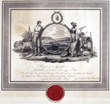 Certificate with manuscript from the Board of Agriculture, c 1793.
