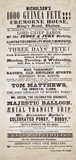 Advertisement for 'Nicholson's 1000 Guinea Fete', 1843.