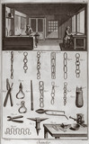 Chain-making workshop, 1751-1765.