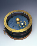 Orrery with wooden case, 1718-1747.