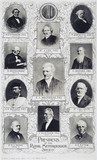 Former presidents of the Royal Meteorological Society, 1900.