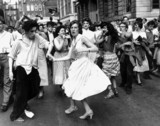 Dancing rock 'n' roll in the street, c 1950