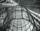 Framework of a Barnes Wallis airship under construction, c 1920s.