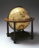Terrestrial globe on a wooden stand, 1599.