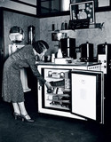 Demonstrating the latest Electrolux electrical goods, 1 July 1931.