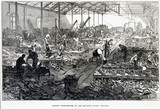 'Making Ploughshares at the Britannia Works, Bedford', 1874.