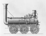 Steam locomotive 'Royal George', October 1827.
