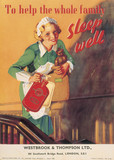'Sleep well' hot water bottle, August 1938.