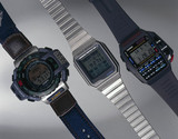 Three Casio digital watches, 1990s.