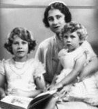 Queen Elizabeth with Princeses Elizabeth and Margaret, 1933.