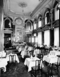 Tea room at the Great Western Hotel, Paddington Station, London, 1922.