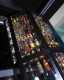 Tower of dye bottles, 1999.
