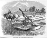 Bernhard Samuelson's harvesting and food-preparing machinery, c 1862.