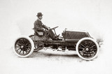 C S Rolls at the wheel of his 80 hp Mors Racer, c 1903.